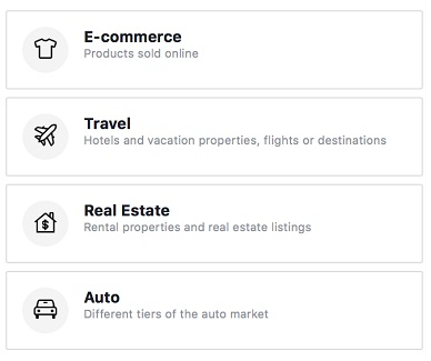 Product catalogs for travel, real estate and cars