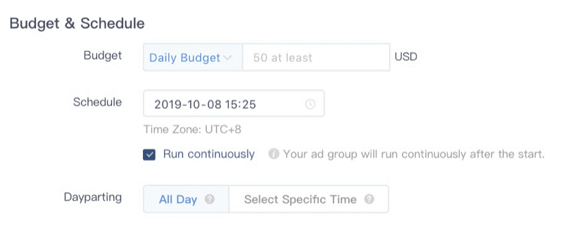 Budgets And Scheduling